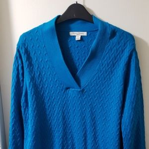 3 For $20 V-Neck Turquoise Long Sleeve Sweater